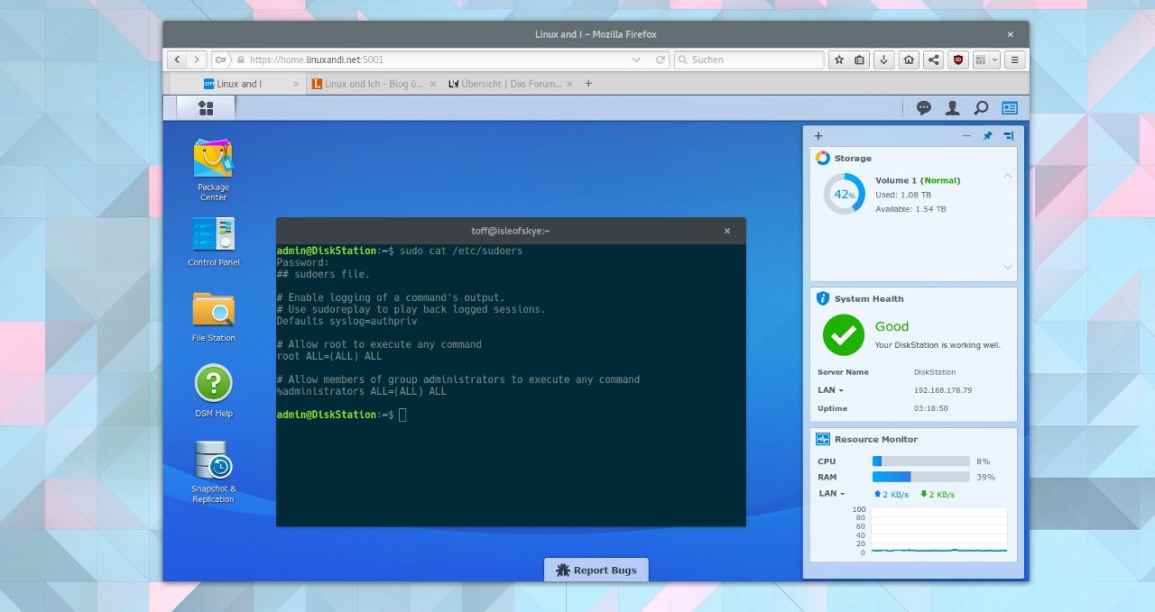 Root-Zugang mit Synology DSM 6 0 Beta › Linux und Ich