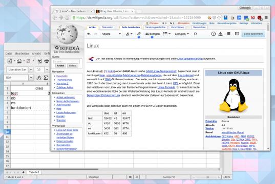 Wikipedia mit WYSIWYG-Editor