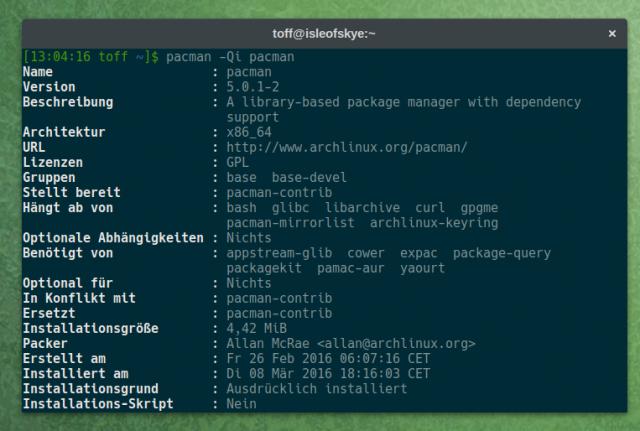 Arch-User müssen das Update auf Pacman 4 bis zum 23. April durchgeführt haben.