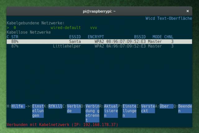 Wicd-curses ist ein Netzwerkmanager für das Terminal.
