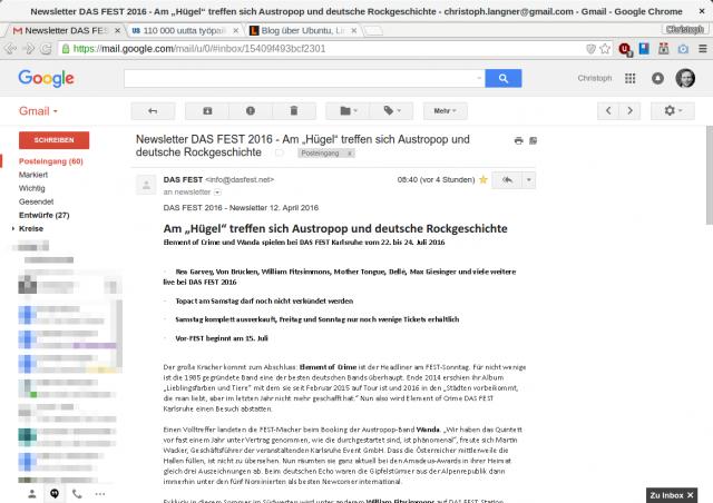 Ohne Fontconfig-Hack: Krackelige Darstellung von Calibri bei Gmail.
