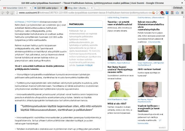 Ohne Fontconfig-Hack: Krackelige Darstellung von Calibri auf anderen Webseiten.