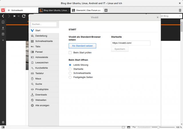 Auch in den Einstellungen enthält Vivaldi deutlich mehr Optionen als Chrome.