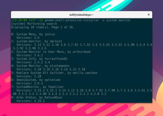 Mit dem Gnome Shell Extension Installer lassen sich Gnome-Erweiterungen ohne Browser installieren.