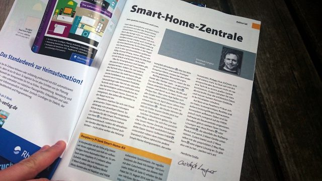 Das Raspberry Pi Geek Spezial 01/2016 behandelt die Smart-Home-Software FHEM auf dem RasPi.