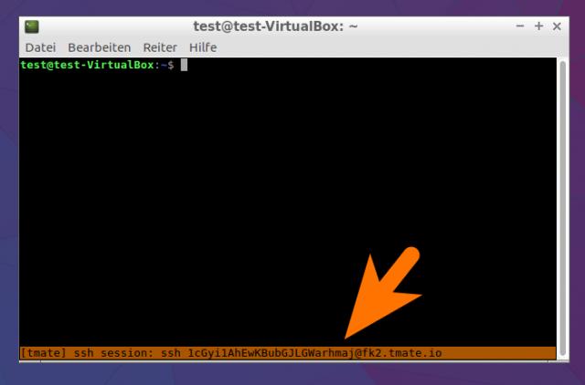 Tmate ist quasi ein Teamviewer für die Konsole. Die Session-ID muss man dem Helfer schicken.