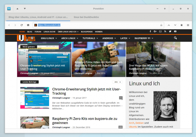 Poseidon Browser für Linux