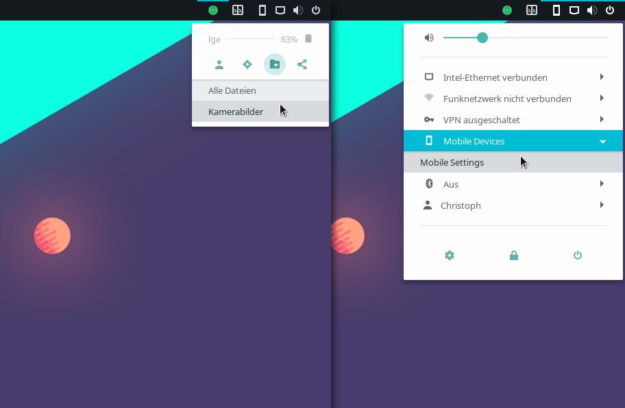 Gnome-Erweiterung zum Steuern von Android-Handys via