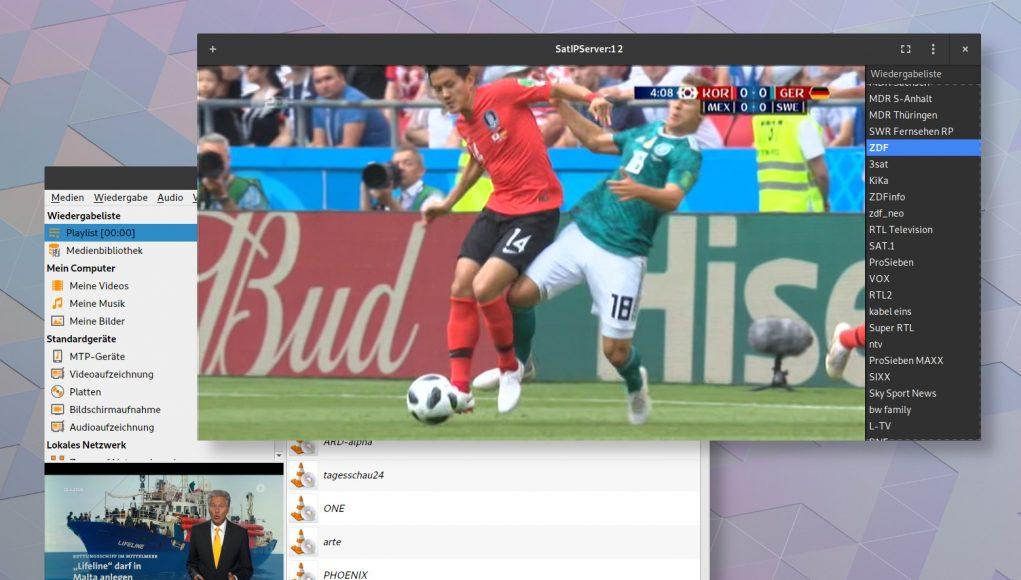 Gnome MPV als schlanke Alternative zu VLC zum Abspielen der TV-Streams der Fritzbox.